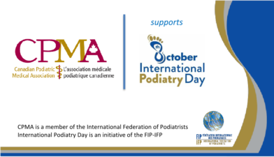 The CPMA is pleased to support International Podiatry Day, Monday, October 8, 2018.